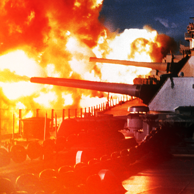 Public Domain, USS New Jersey firing in Beirut, 1984