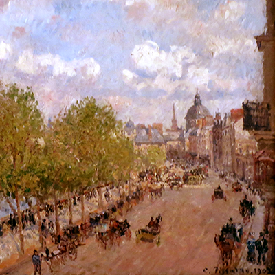Public Domain, Sunny Afternoon by Camille Pissarro